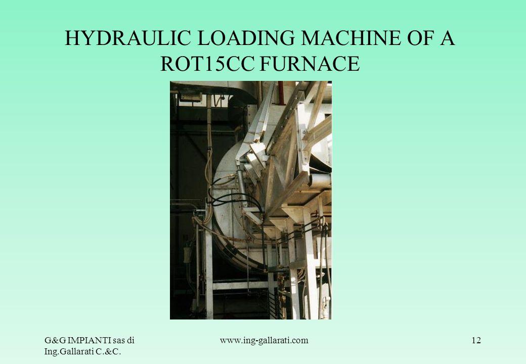 HYDRAULIC LOADING MACHINE OF A ROT15CC FURNACE