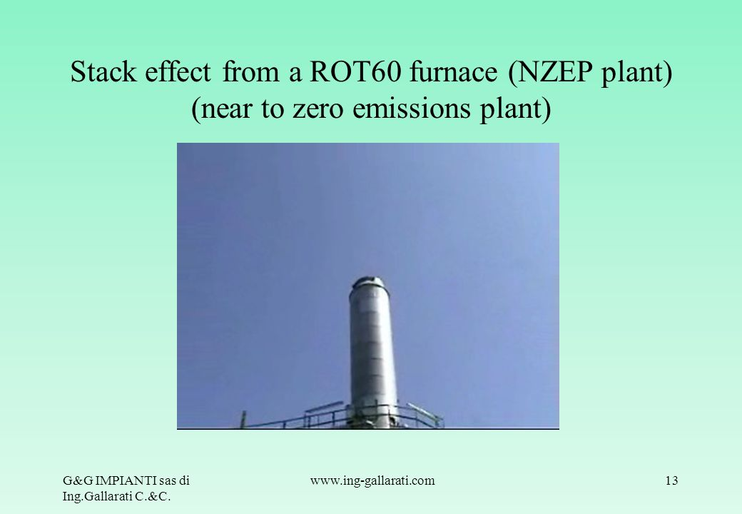 Stack effect from a ROT60 furnace (NZEP plant) (near to zero emissions plant)