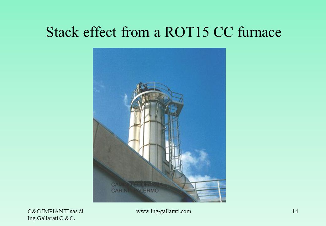 Stack effect from a ROT15 CC furnace