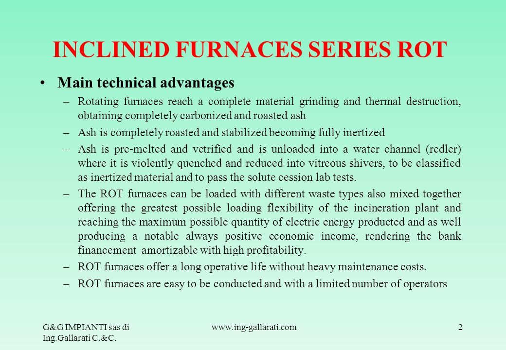 INCLINED FURNACES SERIES ROT