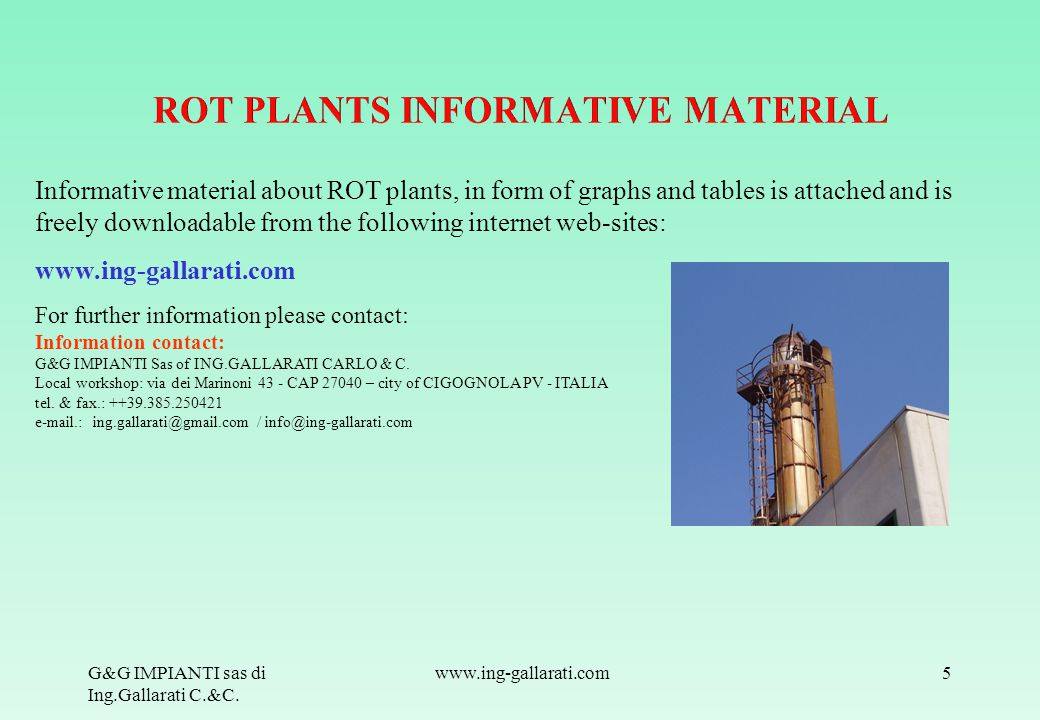 ROT PLANTS INFORMATIVE MATERIAL