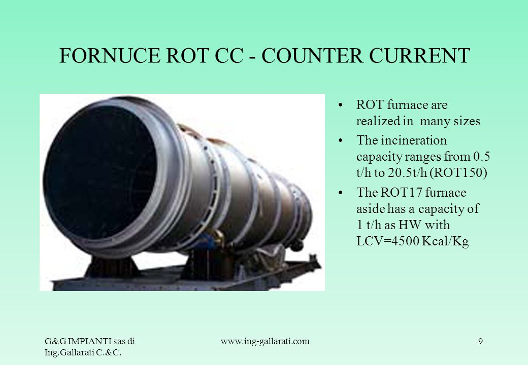FORNUCE ROT CC - COUNTER CURRENT