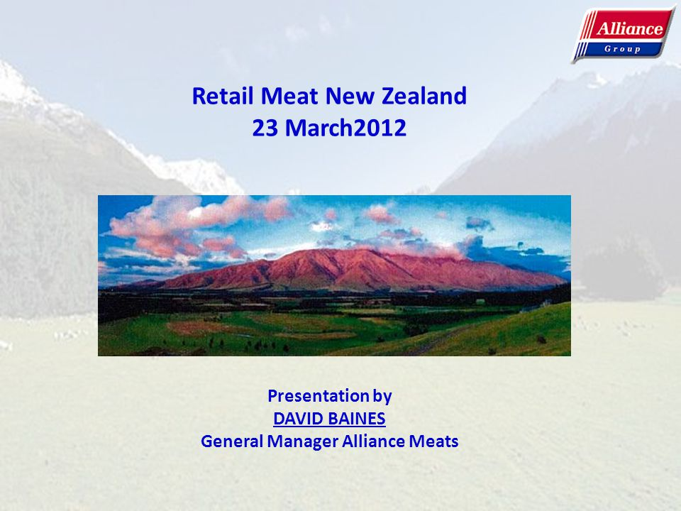 Retail Meat New Zealand General Manager Alliance Meats