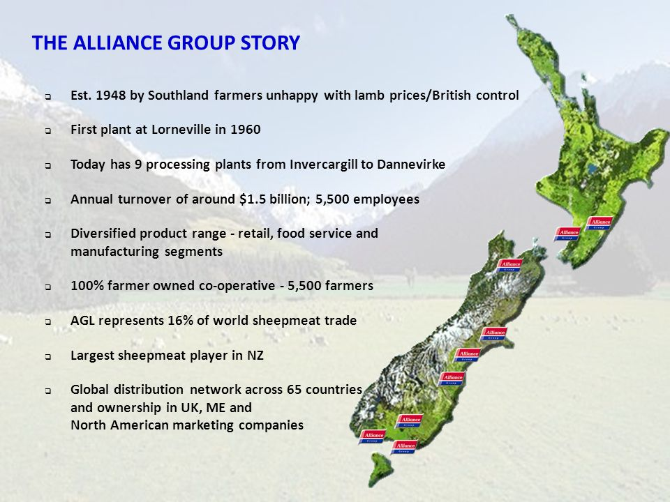 THE ALLIANCE GROUP STORY
