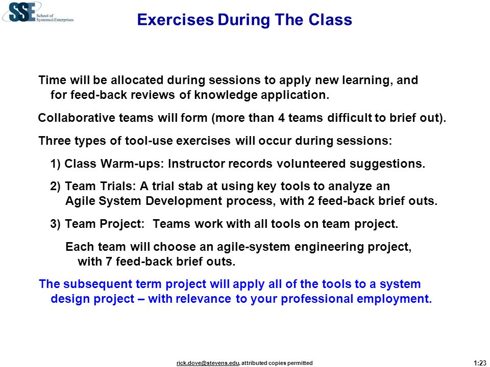 Exercises During The Class