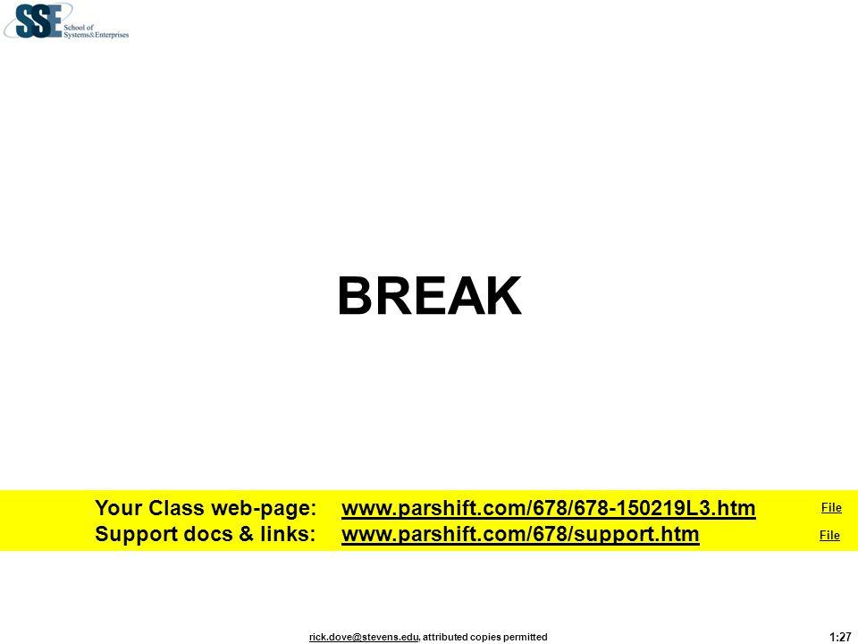 BREAK Your Class web-page: www.parshift.com/678/678-150219L3.htm