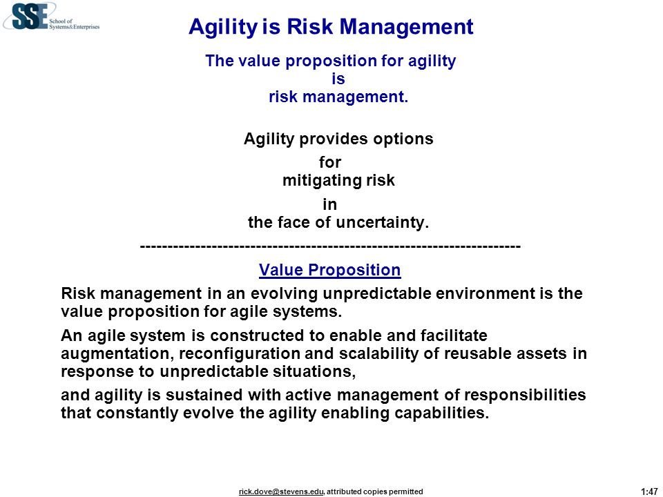Agility is Risk Management