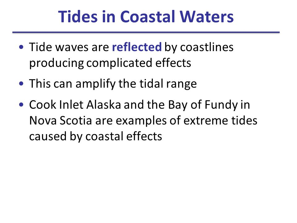 Tides in Coastal Waters