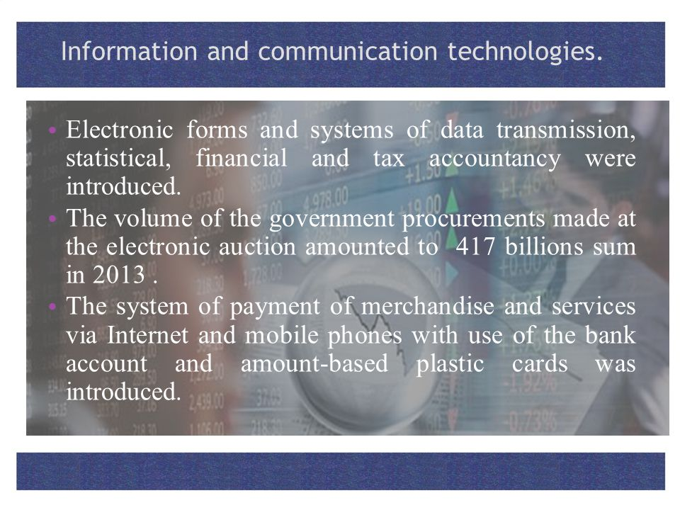 Information and communication technologies.
