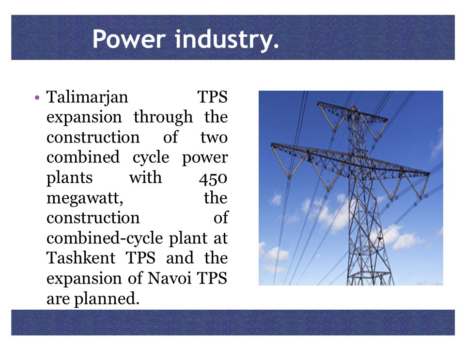 Power industry.