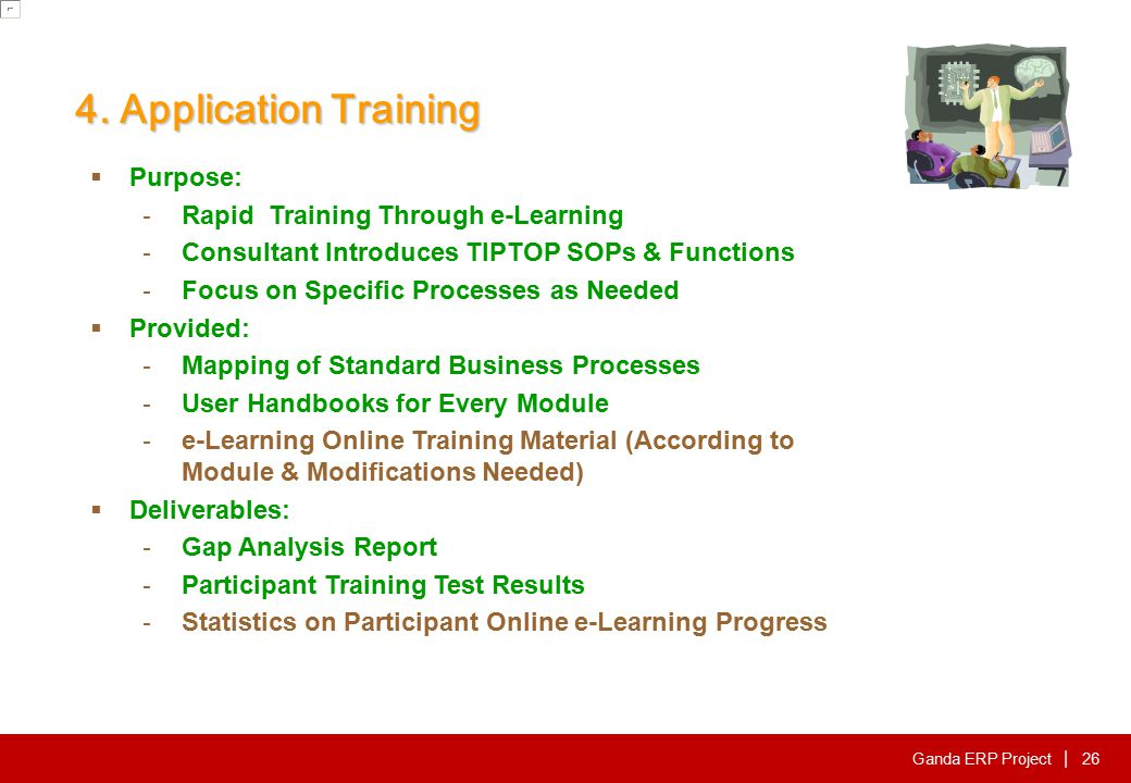5. Operation Training Purpose: