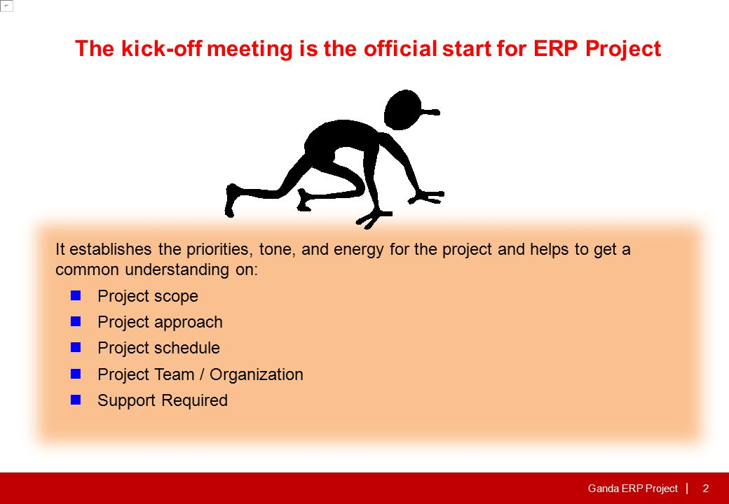 Agenda Ganda ERP Project Scope & Benefit Project team