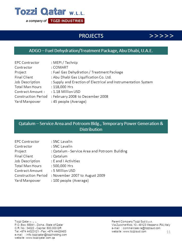 ADGO – Fuel Dehydration/Treatment Package, Abu Dhabi, U.A.E.