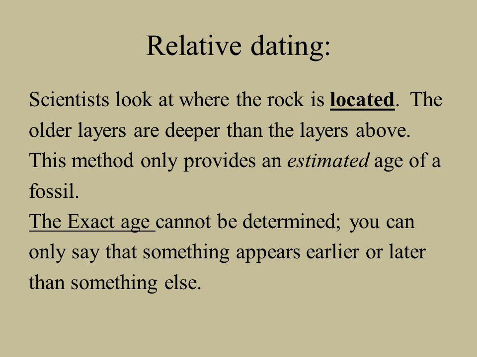Relative dating: