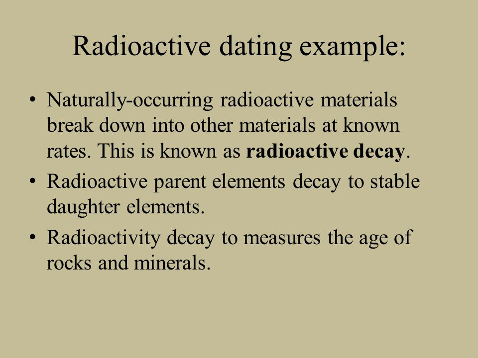 radioactive dating of rock samples How can the answer be improved.