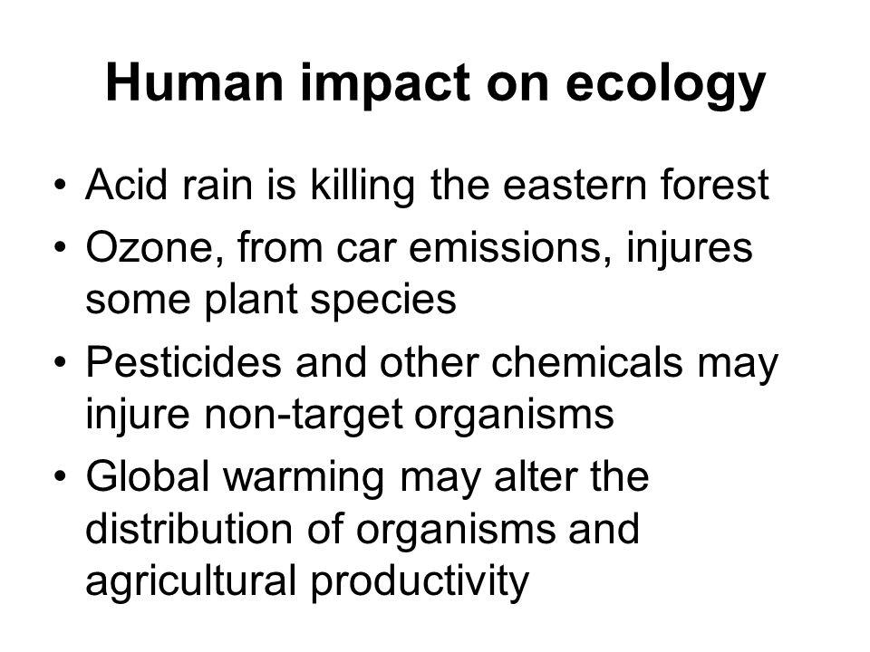 Human impact on ecology