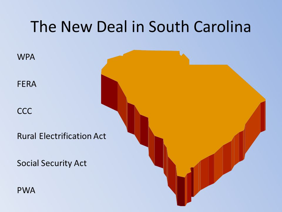 The New Deal in South Carolina