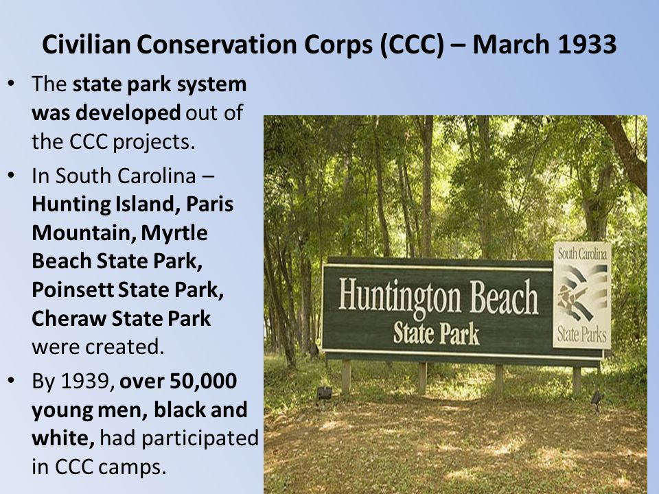 Civilian Conservation Corps (CCC) – March 1933