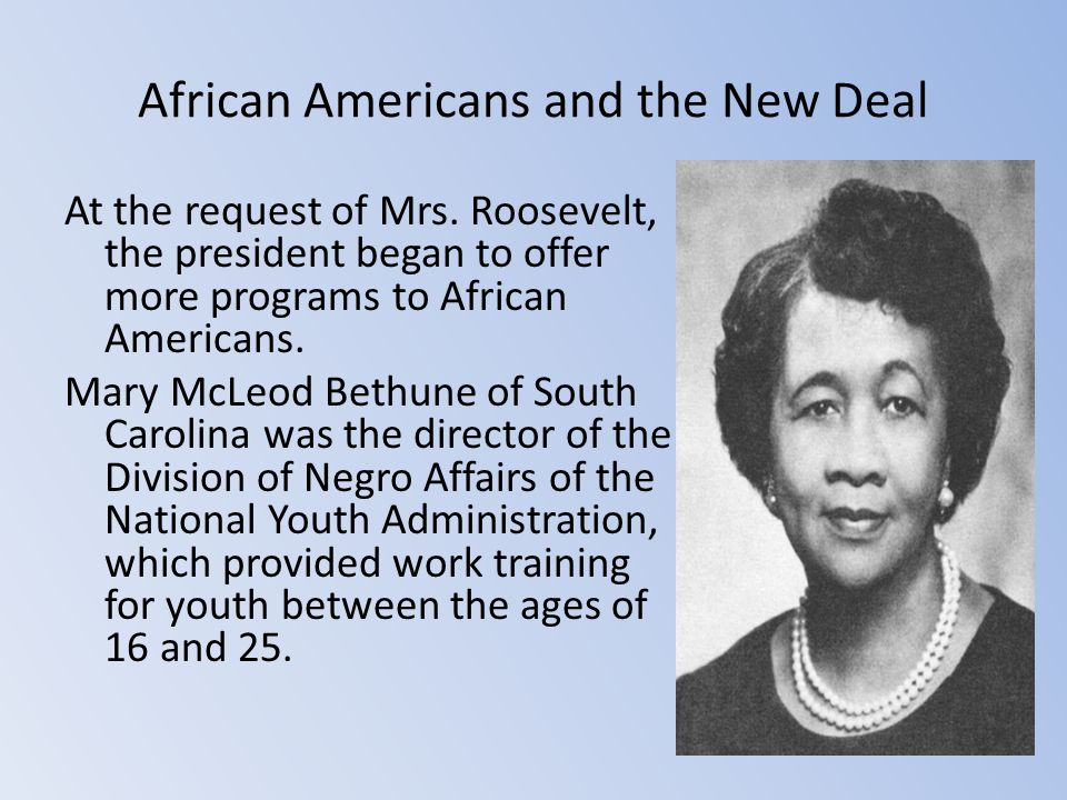 African Americans and the New Deal