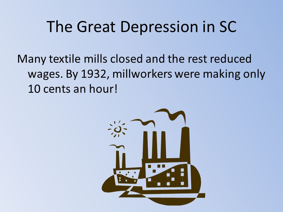 The Great Depression in SC