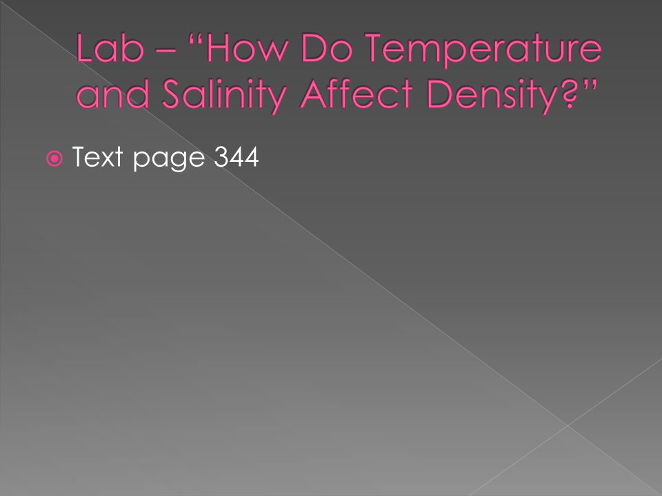 Lab – How Do Temperature and Salinity Affect Density