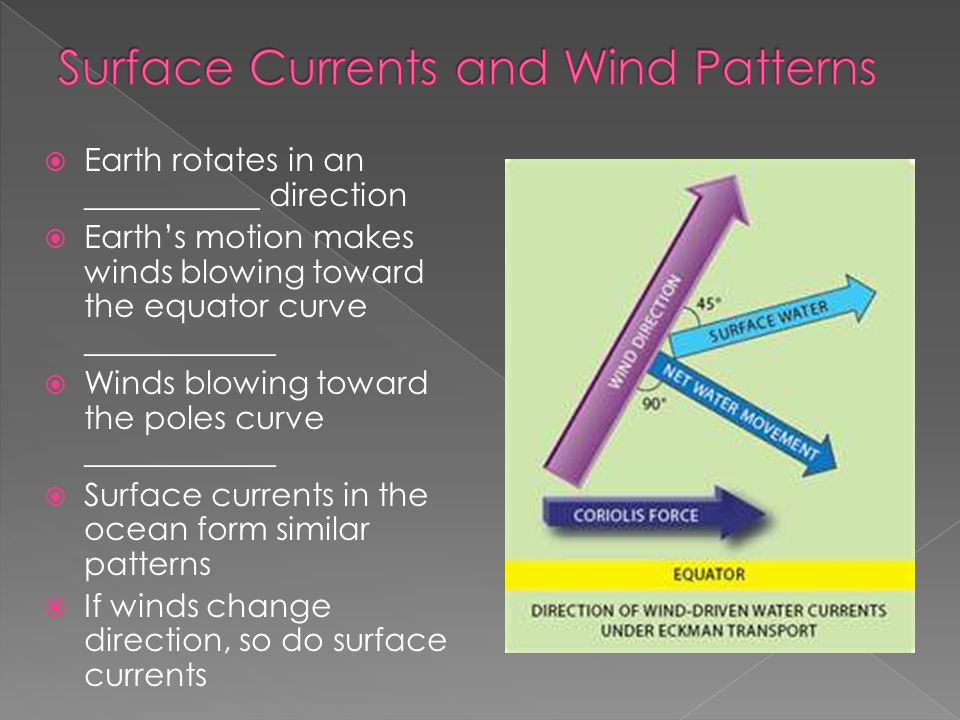 Surface Currents and Wind Patterns