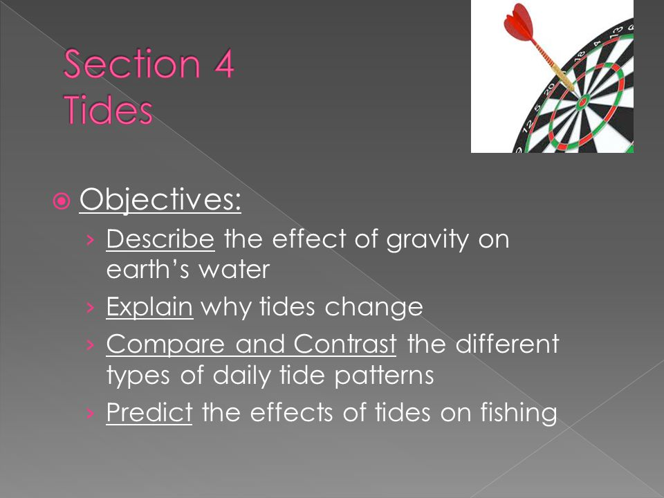 Section 4 Tides Objectives: