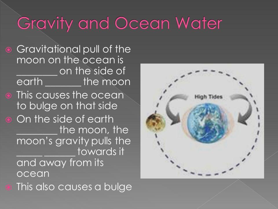 Gravity and Ocean Water