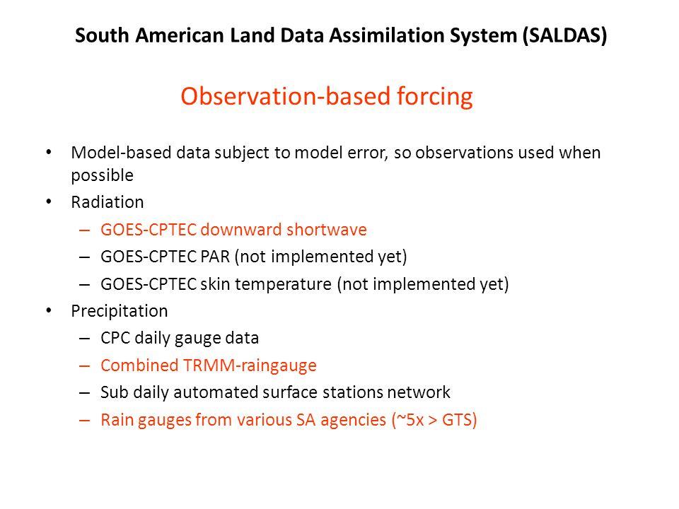 Observation-based forcing