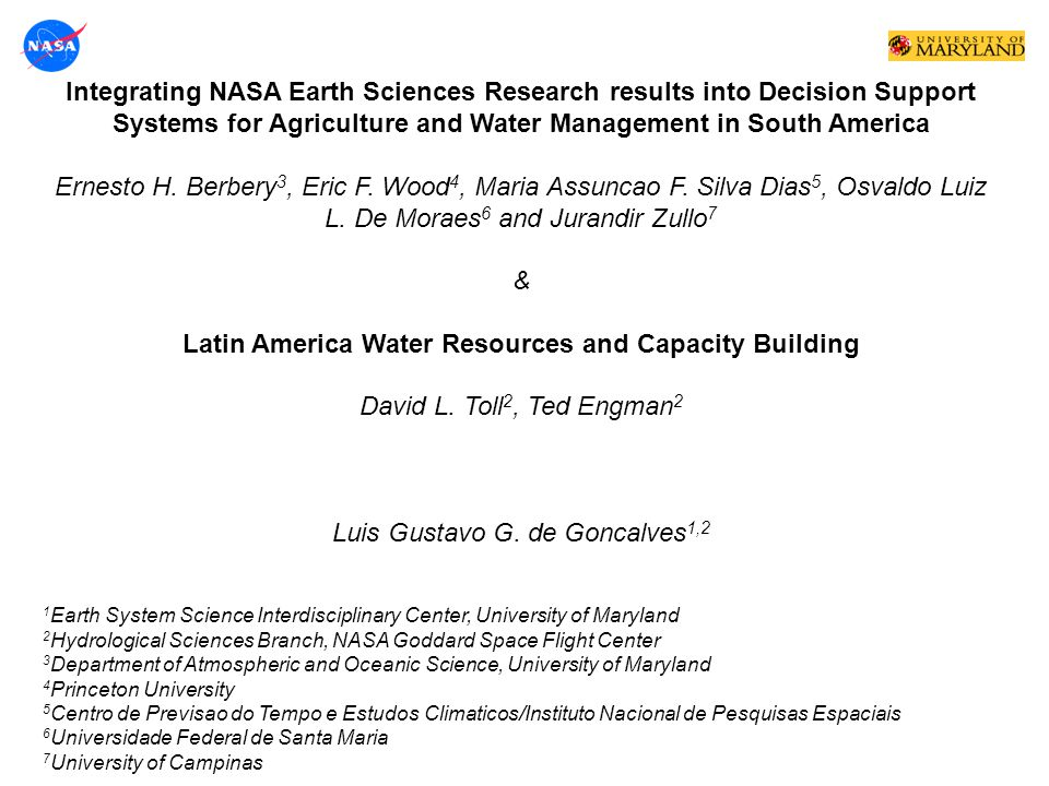Latin America Water Resources and Capacity Building