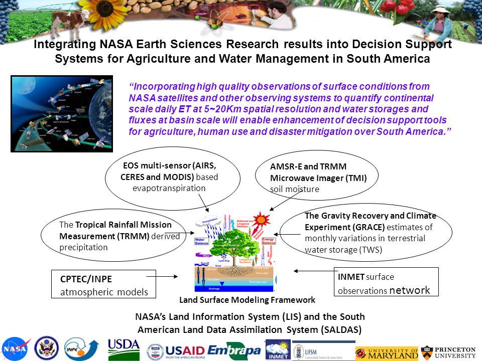 EOS multi-sensor (AIRS, CERES and MODIS) based evapotranspiration