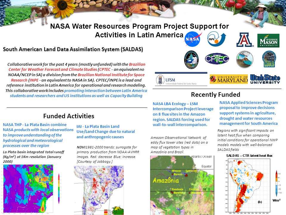 NASA Water Resources Program Project Support for Activities in Latin America