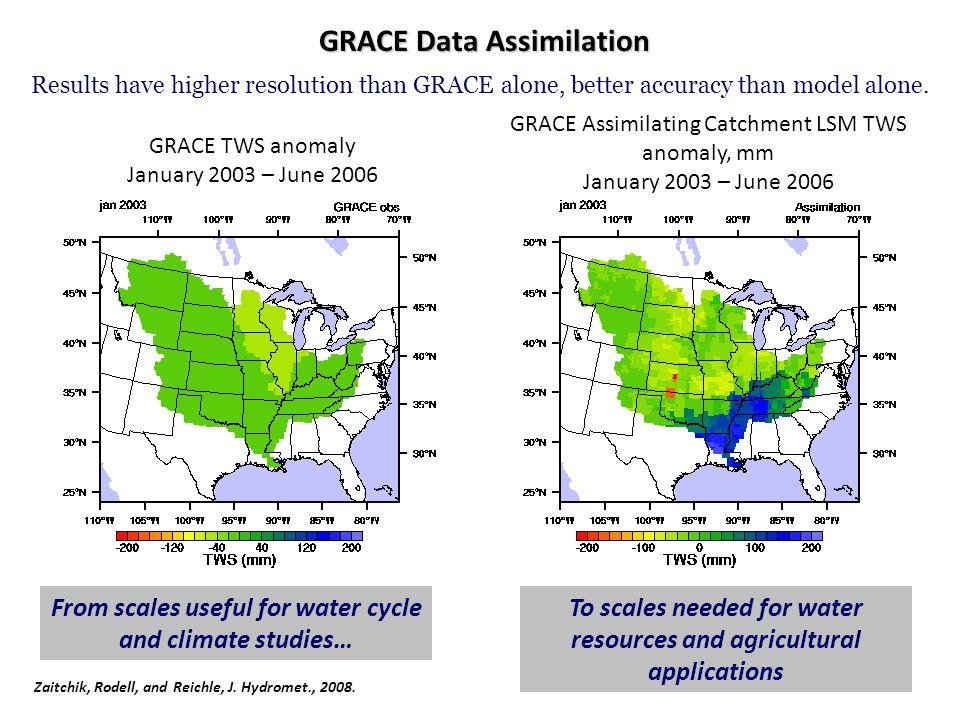 GRACE Data Assimilation