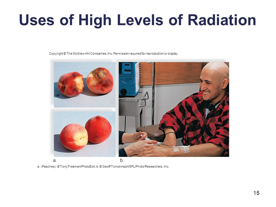 Uses of High Levels of Radiation