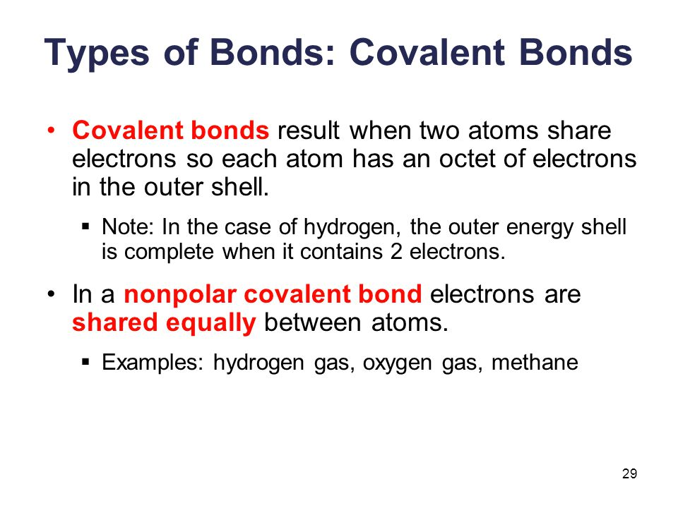 Types of Bonds: Covalent Bonds