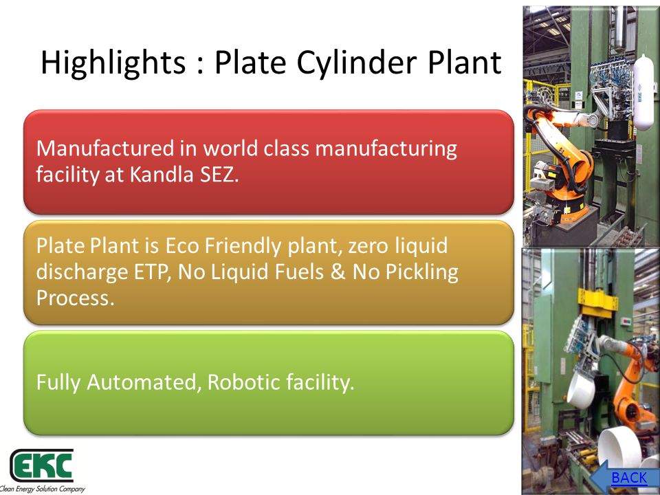 Highlights : Plate Cylinder Plant