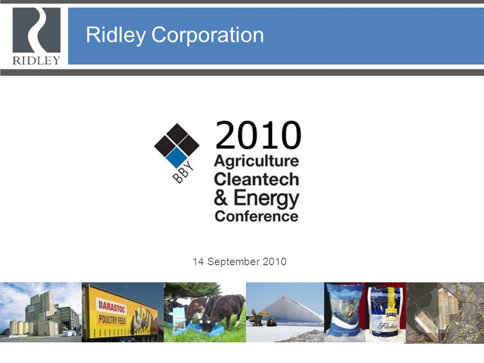 Ridley Corporation Ridley Corporation 14 September 2010