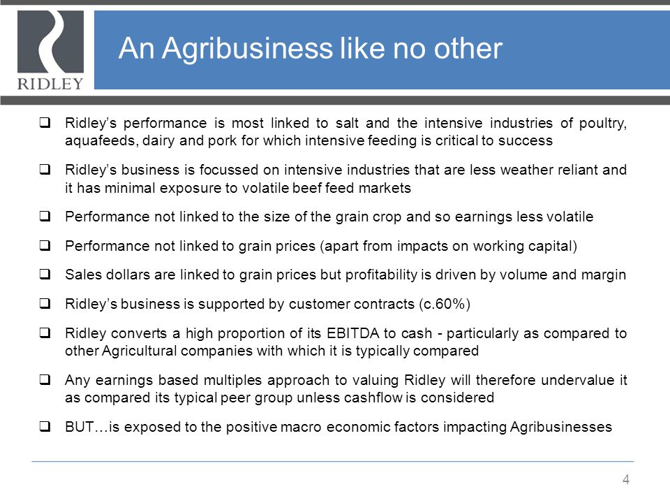 An Agribusiness like no other