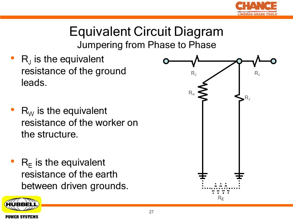 Equivalent Circuit Diagram Jumpering from Phase to Phase