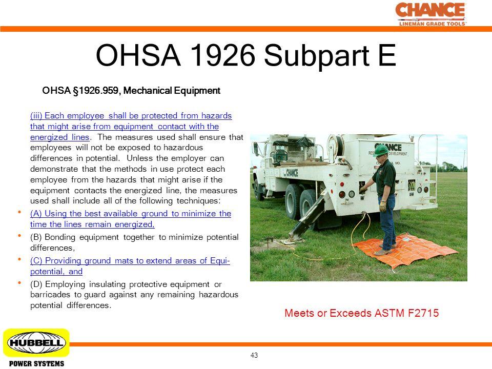 OHSA §1926.959, Mechanical Equipment