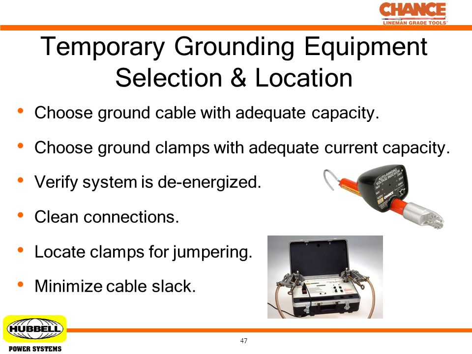 Temporary Grounding Equipment Selection & Location