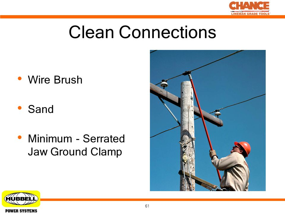 Clean Connections Wire Brush Sand Minimum - Serrated Jaw Ground Clamp