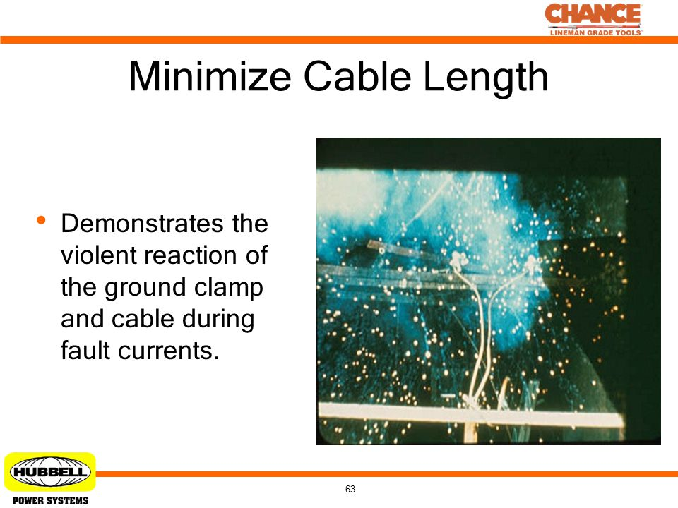 Minimize Cable Length Demonstrates the violent reaction of the ground clamp and cable during fault currents.