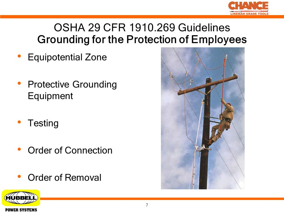 Grounding for the Protection of Employees