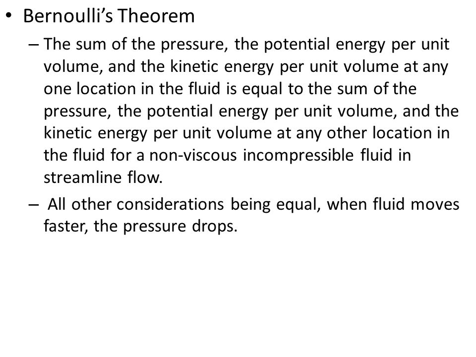 Bernoulli's Theorem