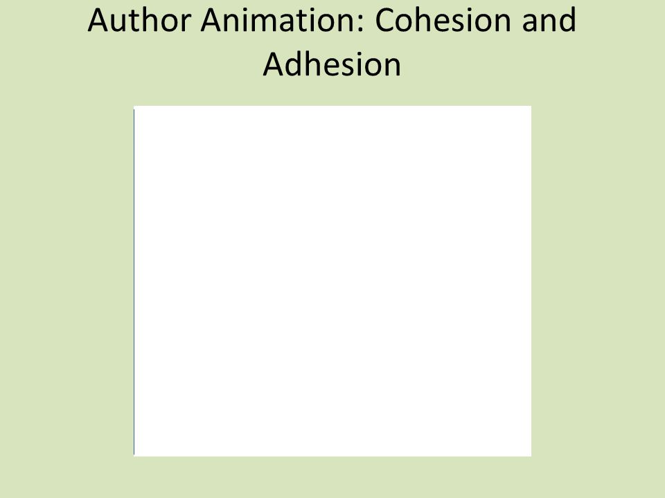 Author Animation: Cohesion and Adhesion