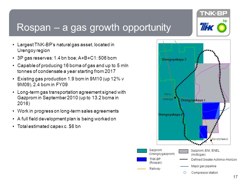 Rospan – a gas growth opportunity