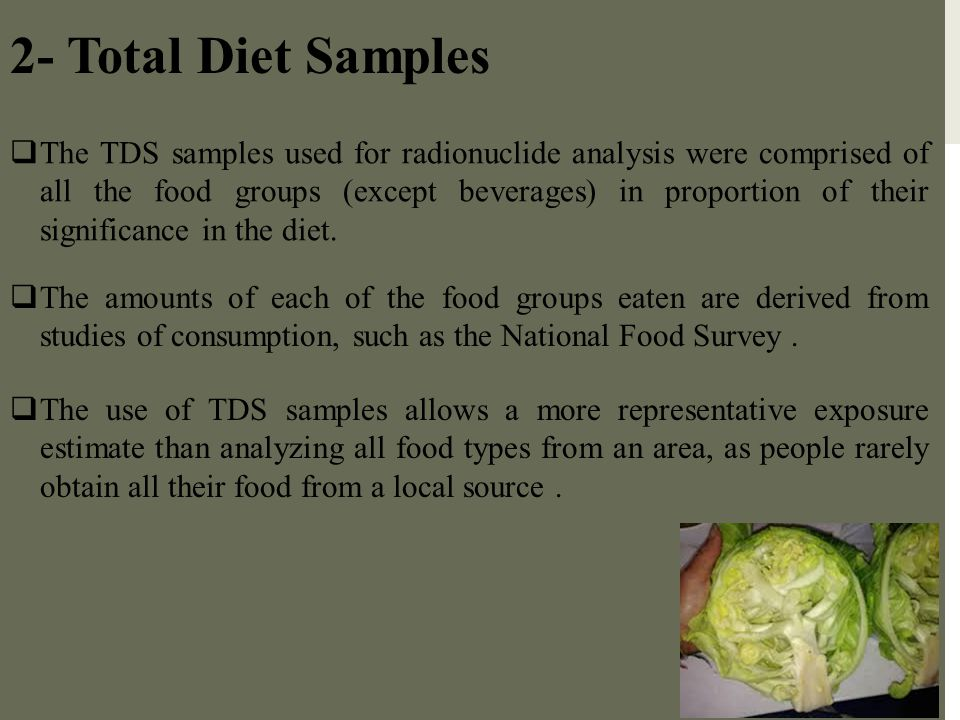 2- Total Diet Samples
