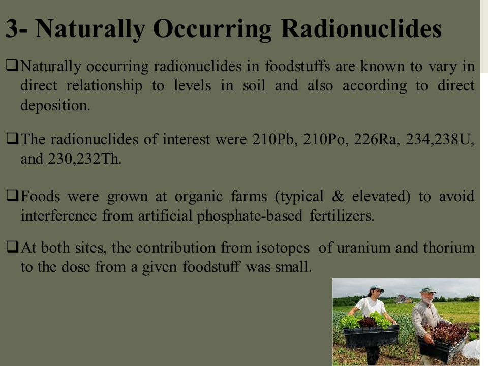 3- Naturally Occurring Radionuclides