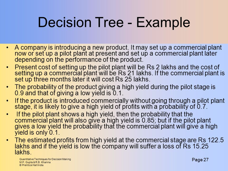 Decision Tree - Example